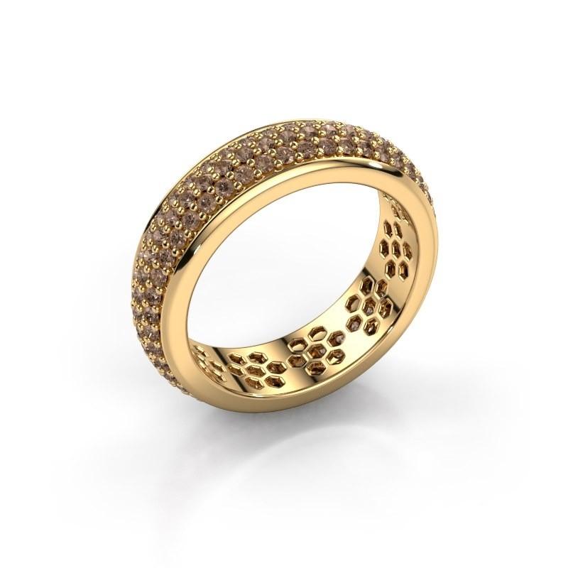 Ring Tara 375 Gold Braun Diamant 1.32 crt