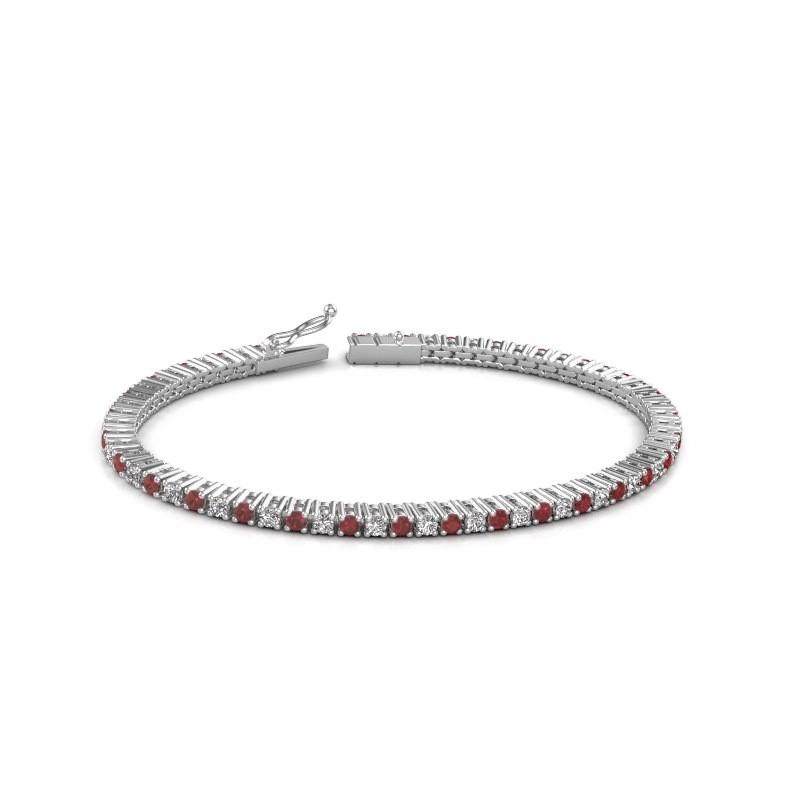 Tennis bracelet Karisma 585 white gold ruby 2.4 mm