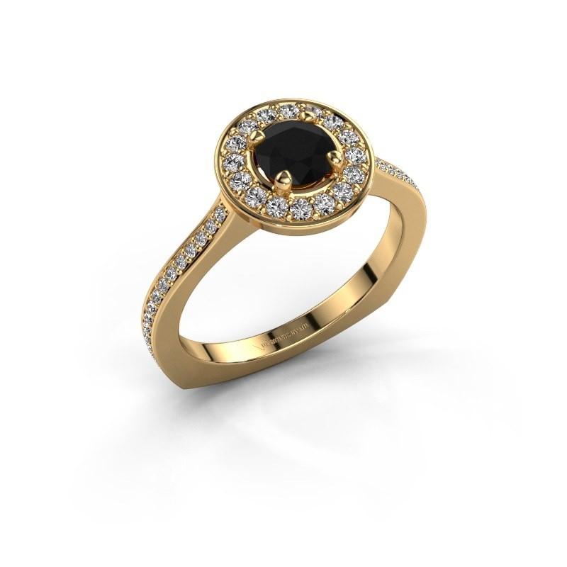 Ring Kanisha 2 585 goud zwarte diamant 0.972 crt