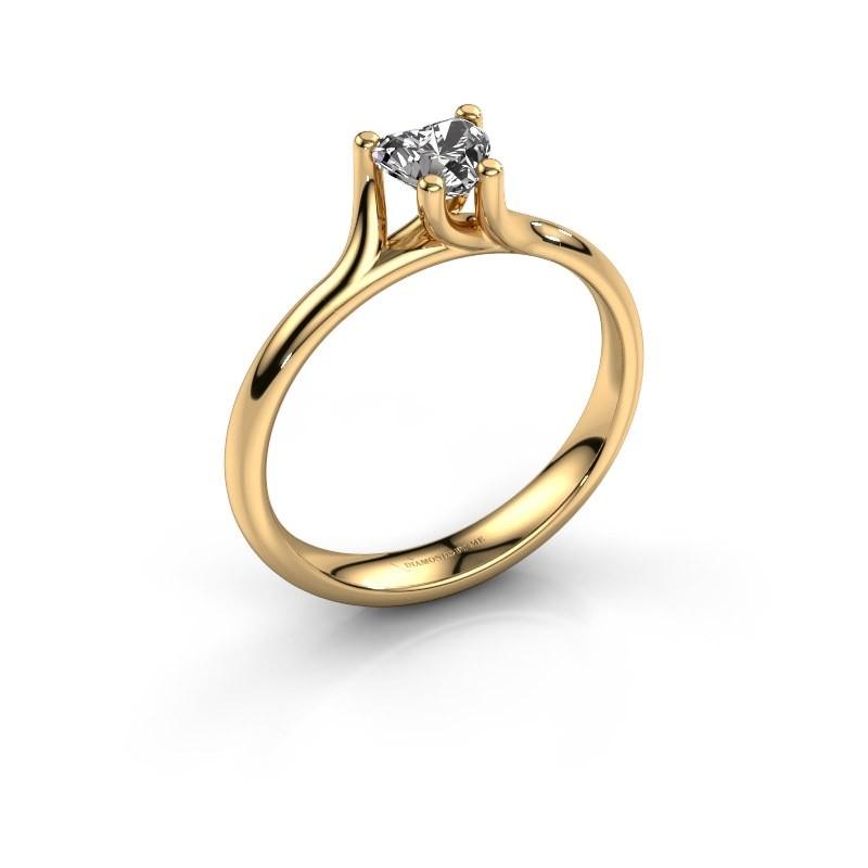 Verlobungsring Dewi Heart 375 Gold Lab-grown Diamant 0.50 crt