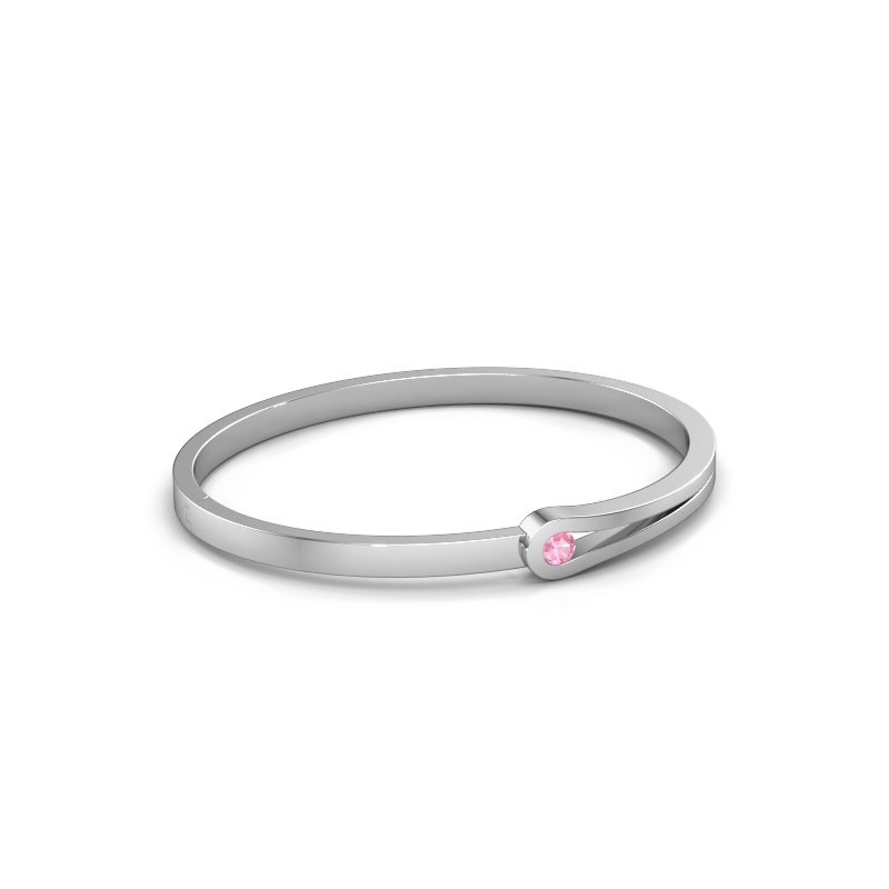 Bangle Kiki 950 platinum pink sapphire 4 mm