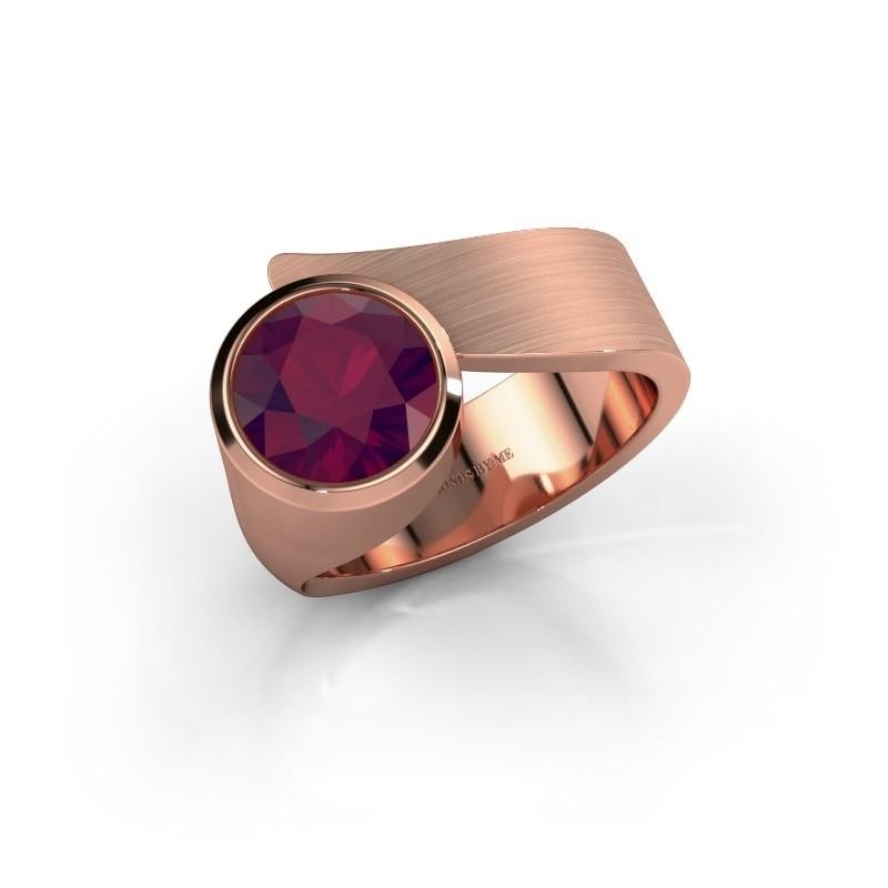 Ring Nakia 375 rose gold rhodolite 8 mm