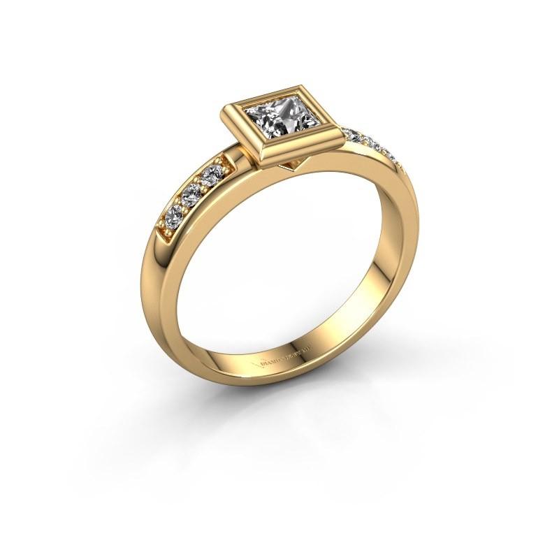 Steckring Lieke Square 585 Gold Diamant 0.52 crt