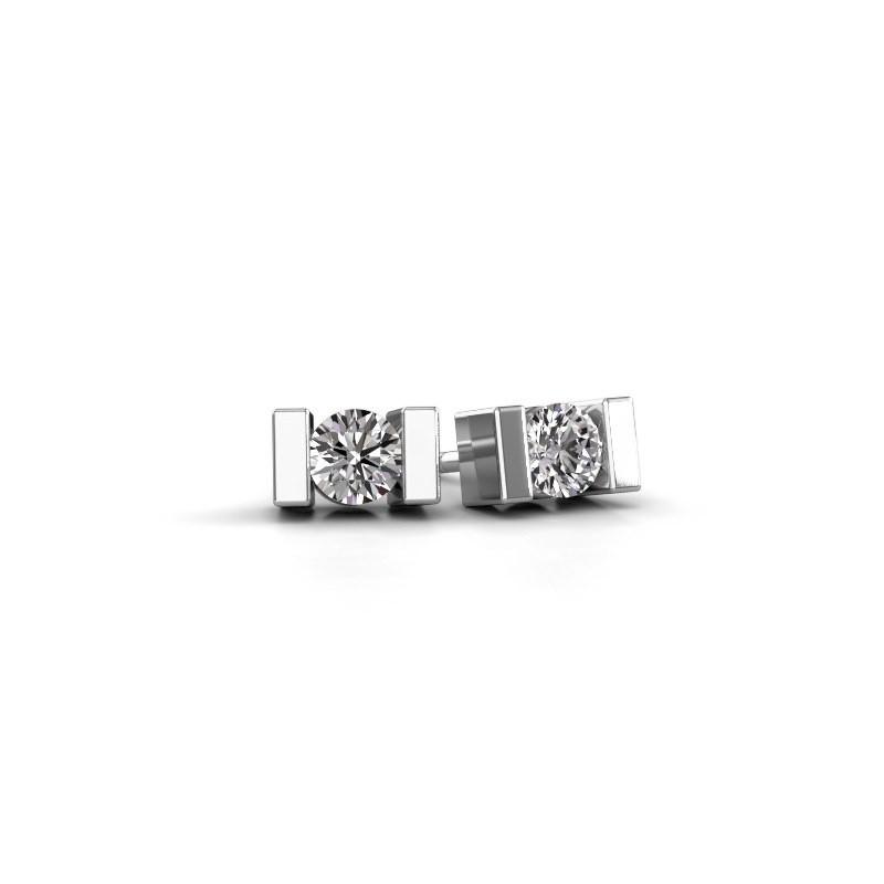 Oorstekers Lieve 925 zilver zirkonia 3.7 mm