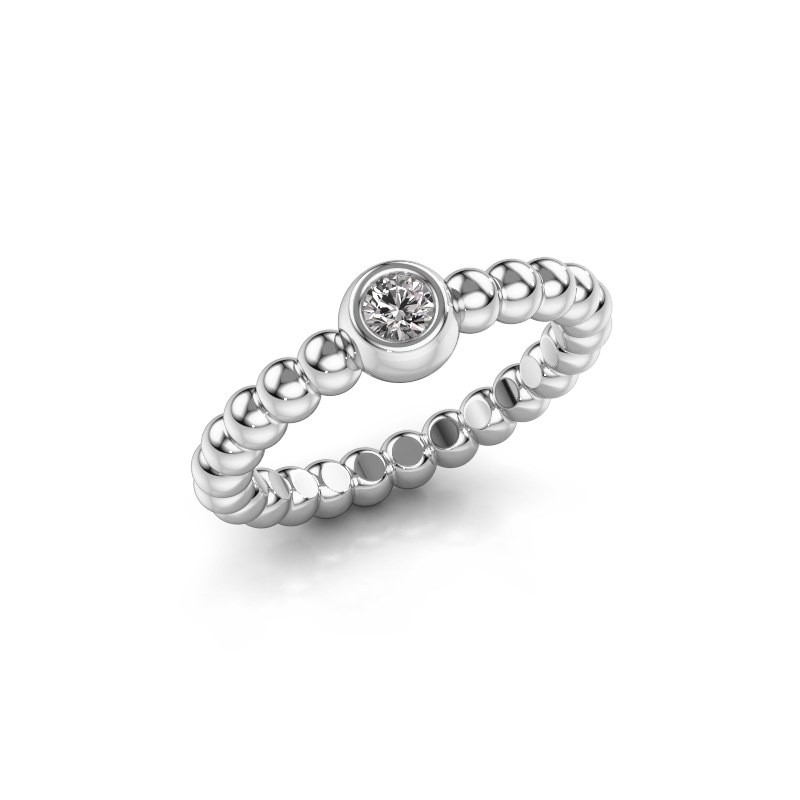 Stackable ring Dini 925 silver zirconia 3 mm