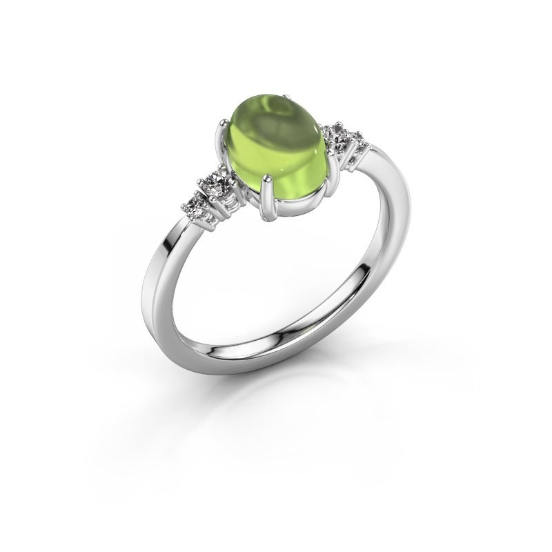 Ring Jelke 950 platinum peridot 8x6 mm