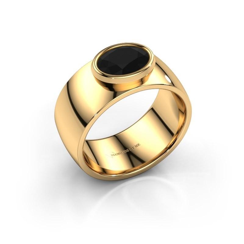 Ring Wilma 1 585 goud zwarte diamant 1.380 crt