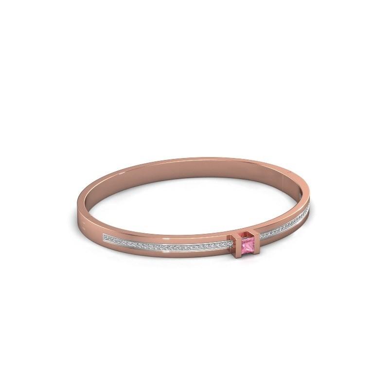 Armband Desire 585 rosé goud roze saffier 4 mm