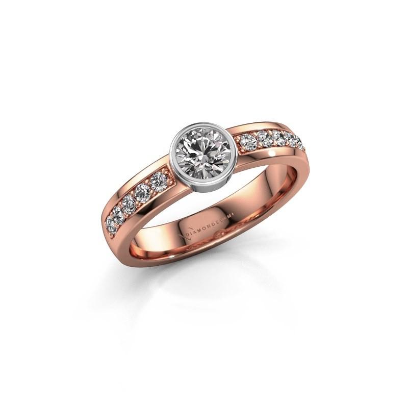 Aanzoeksring Ise 2 585 rosé goud diamant 0.60 crt
