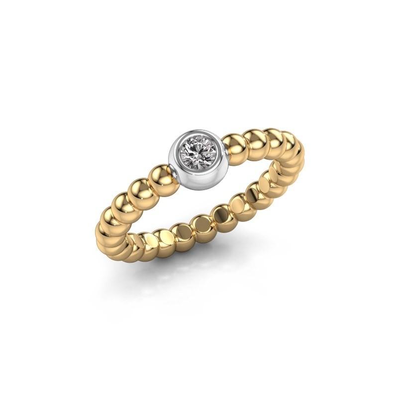 Aanschuifring Dini 585 goud diamant 0.10 crt