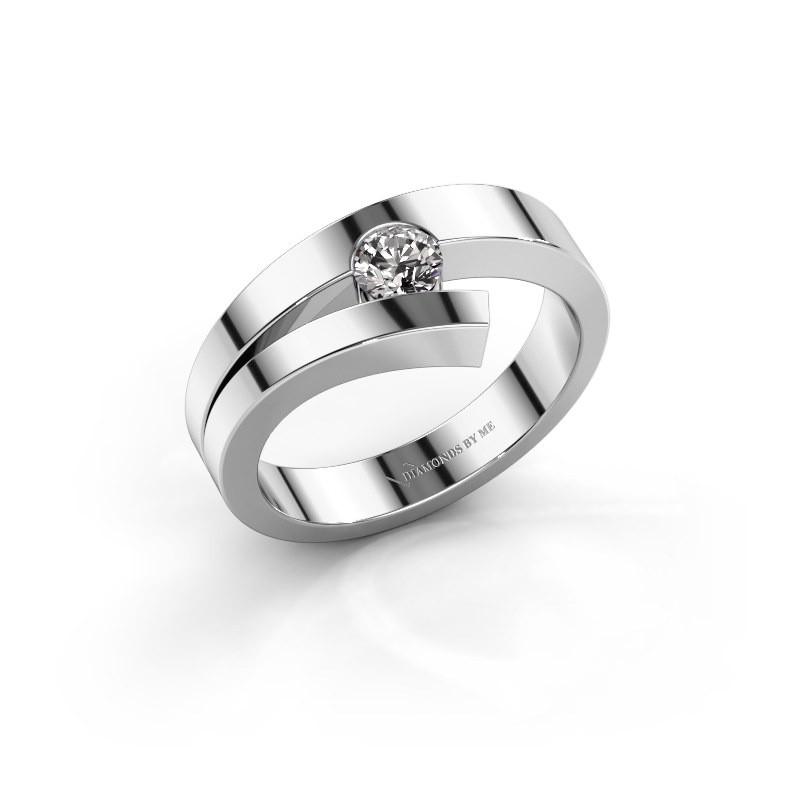 Ring Rosario 925 zilver diamant 0.25 crt