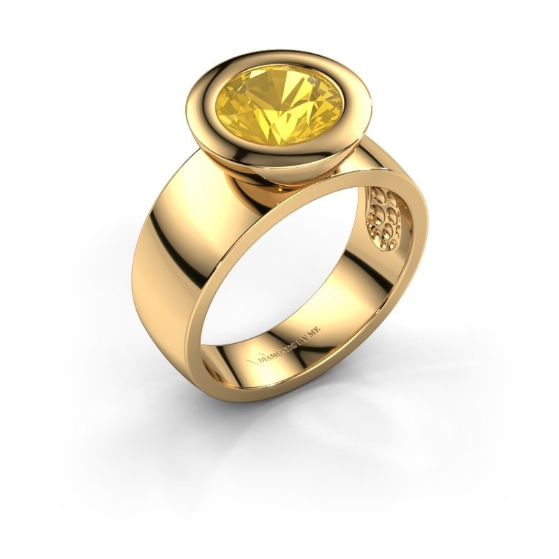 Ring Maxime 585 goud gele saffier 8 mm