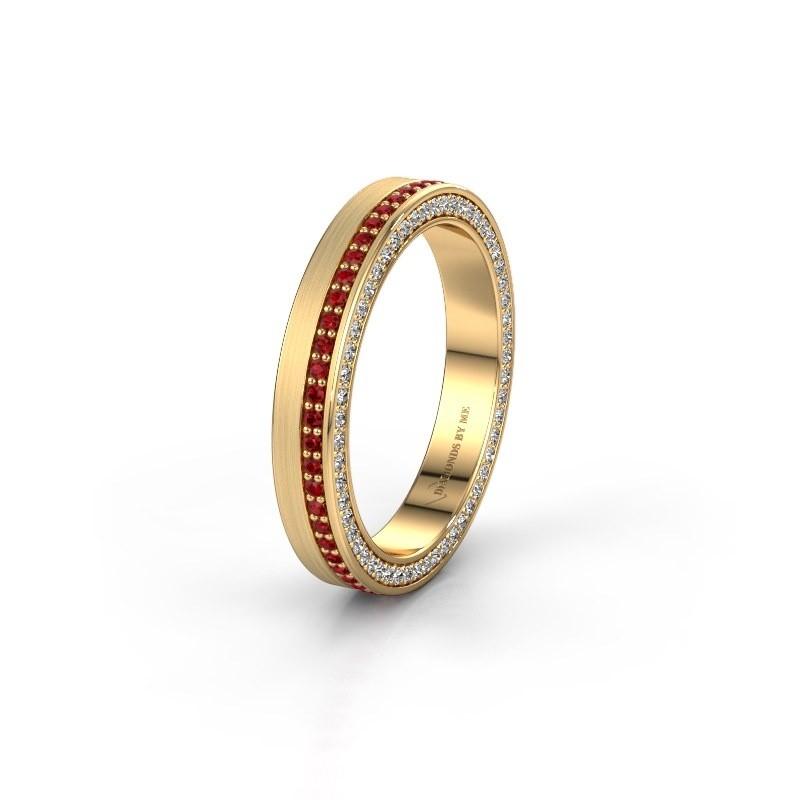 Wedding ring WH2214L15BM 375 gold ruby 1 mm ±5x2 mm