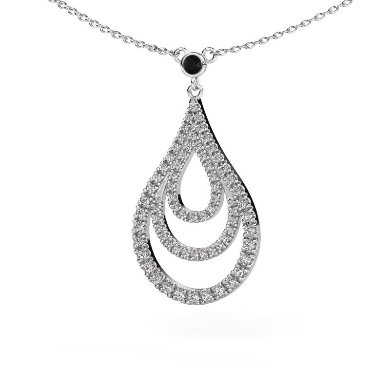Hanger Delpha 925 zilver zwarte diamant 0.490 crt