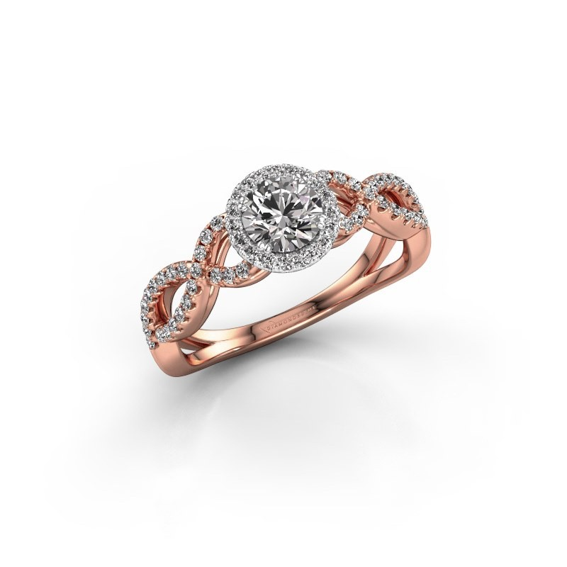 Engagement ring Dionne rnd 585 rose gold diamond 0.72 crt