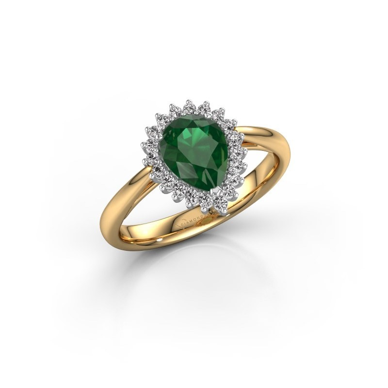 Engagement ring Tilly per 1 585 gold emerald 8x6 mm