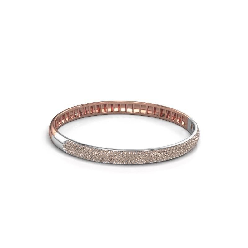 Armband Emely 6mm 585 rosé goud bruine diamant 2.013 crt