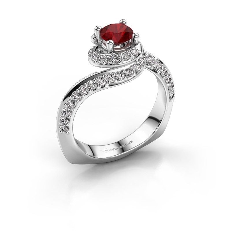 Engagement ring Sienna 585 white gold ruby 5 mm