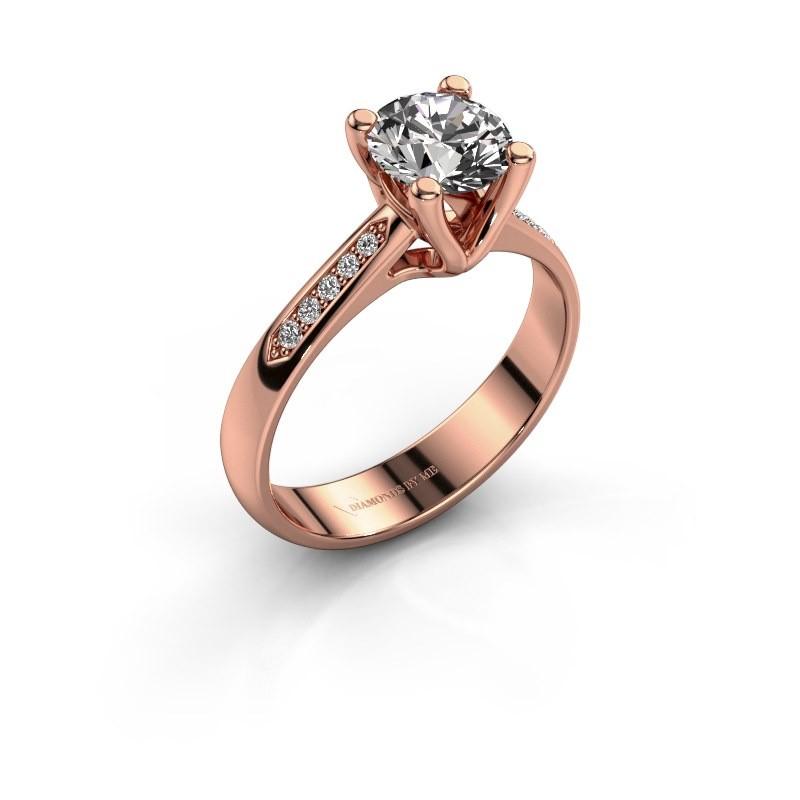 Bague de fiançailles Janna 2 375 or rose diamant 1.00 crt