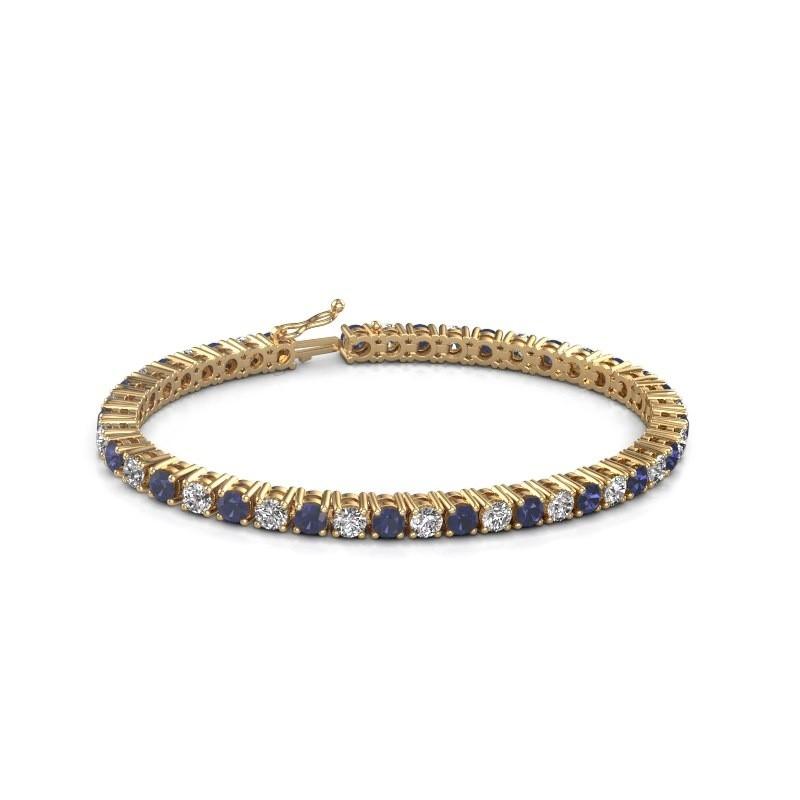 Tennis bracelet Karin 585 gold sapphire 4 mm
