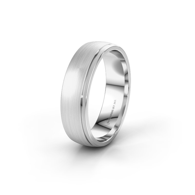 Wedding ring WH0500M26AM 585 white gold ±6x1.7 mm