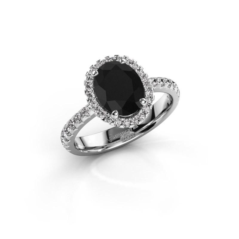 Verlovingsring Lavelle 585 witgoud zwarte diamant 2.652 crt