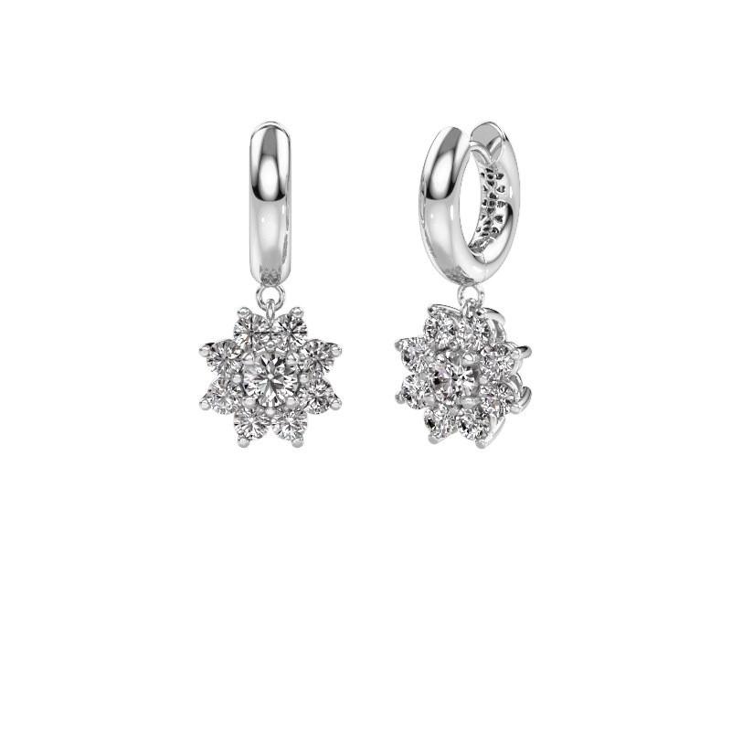 Drop earrings Geneva 1 585 white gold diamond 2.30 crt