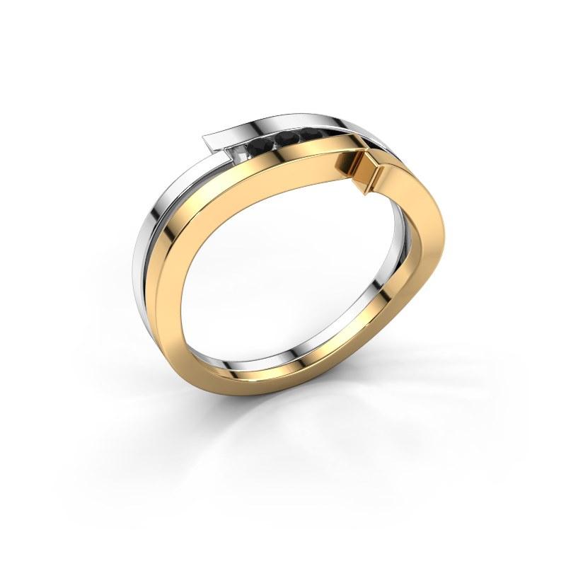 Ring Amelie 585 Gold Schwarz Diamant 0.064 crt