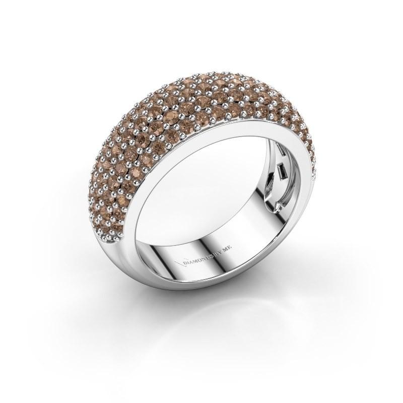 Ring Cristy 585 witgoud bruine diamant 1.425 crt