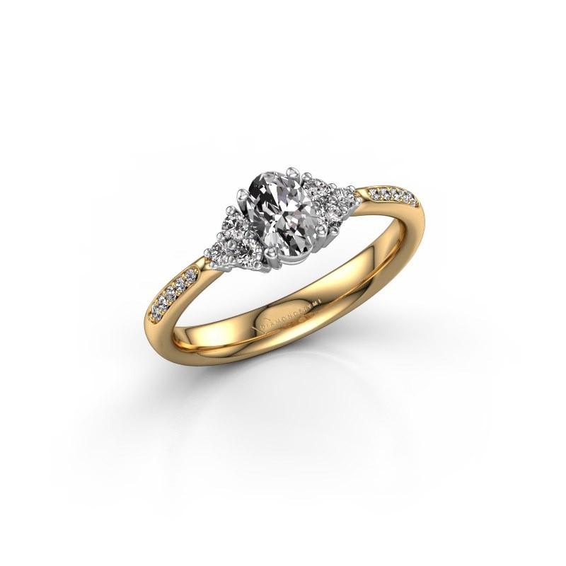 Engagement ring Aleida OVL 2 585 gold diamond 0.683 crt