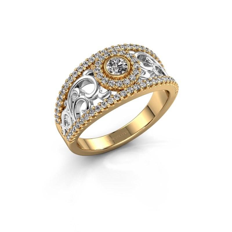 Verlovingsring Lavona 585 goud zirkonia 3.4 mm