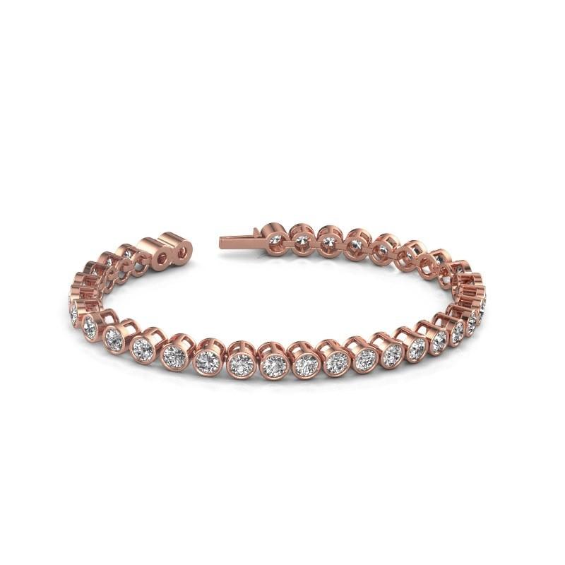 Tennisarmband Allegra 4 mm 375 rosé goud diamant 9.50 crt