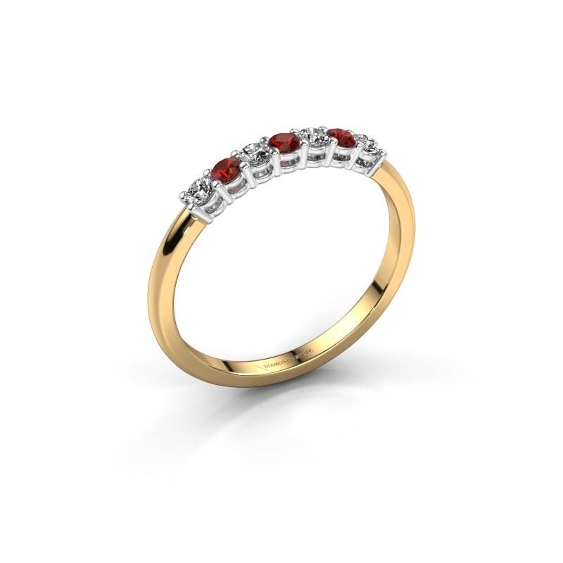 Verlobungsring Michelle 7 585 Gold Granat 2 mm