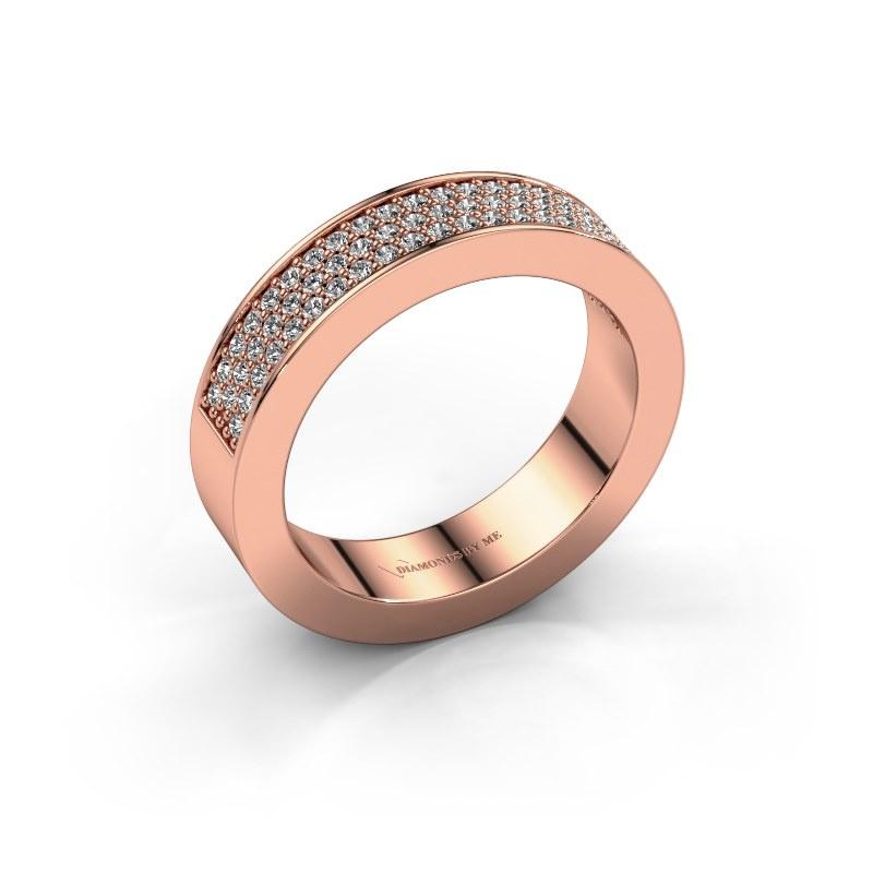 Ring Lindsey 2 585 rosé goud zirkonia 1.1 mm