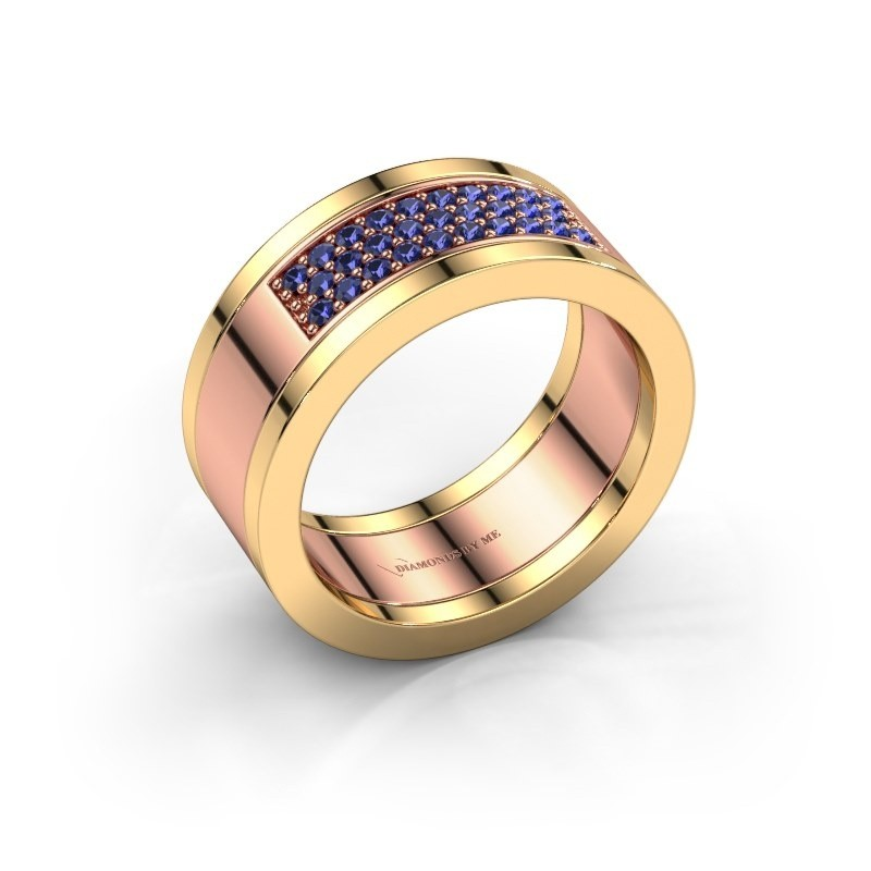 Ring Marita 3 585 rosé goud saffier 1.3 mm