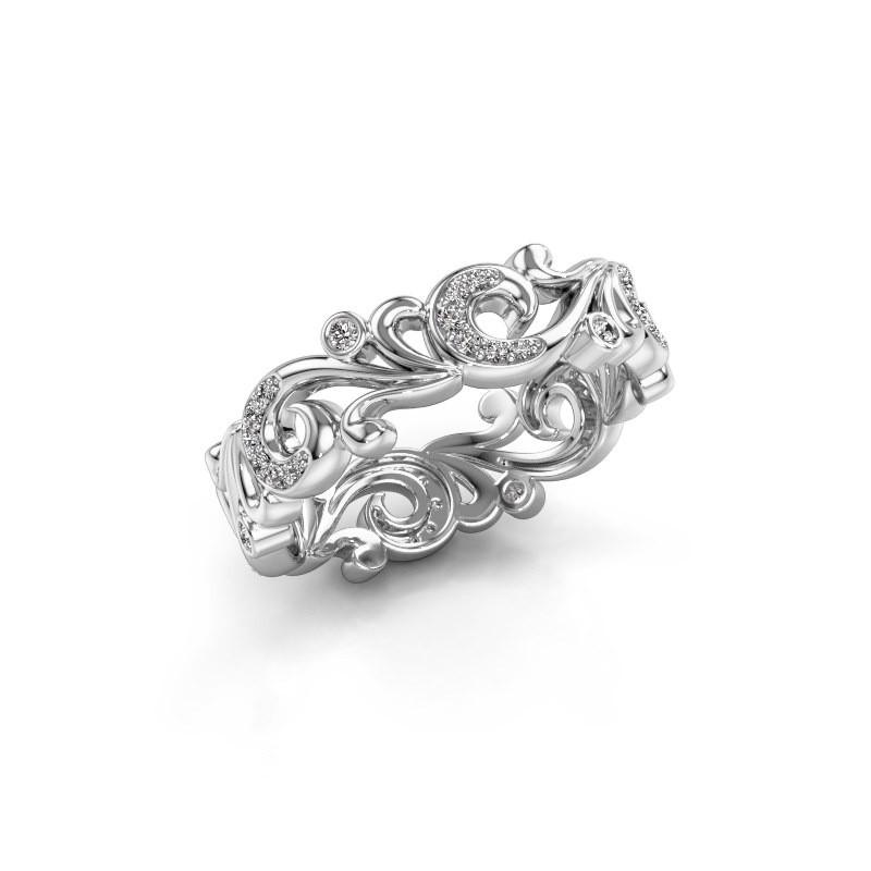 Ring Svetlana 585 witgoud lab-grown diamant 0.238 crt