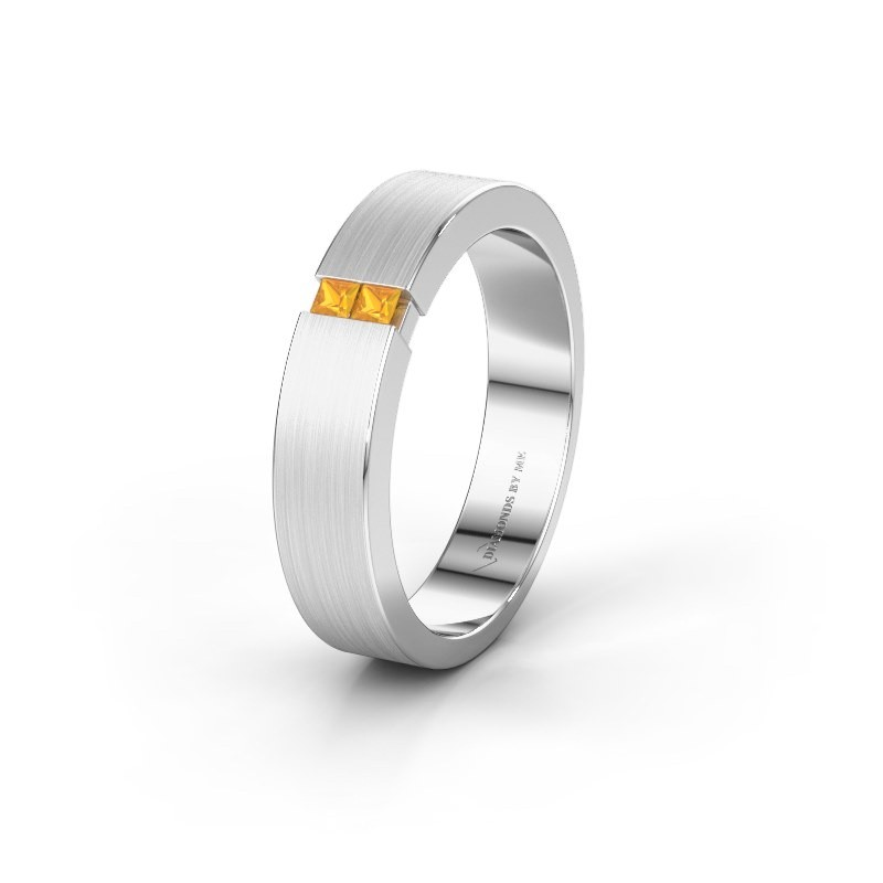 Wedding ring WH2136M15E 925 silver citrin ±5x2.4 mm