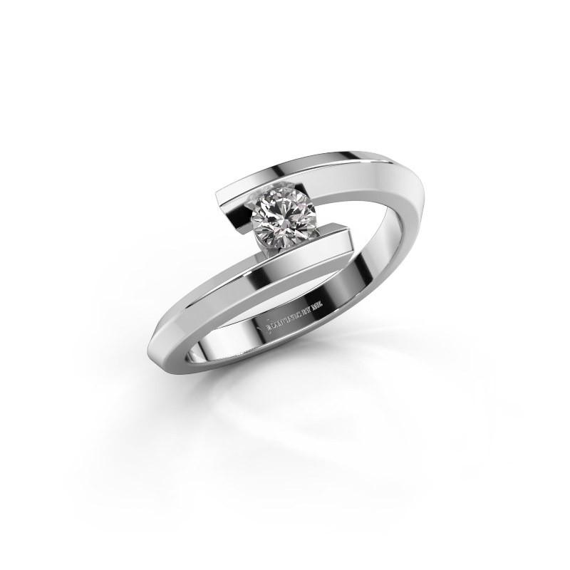 Ring Paulette 925 zilver zirkonia 3.4 mm