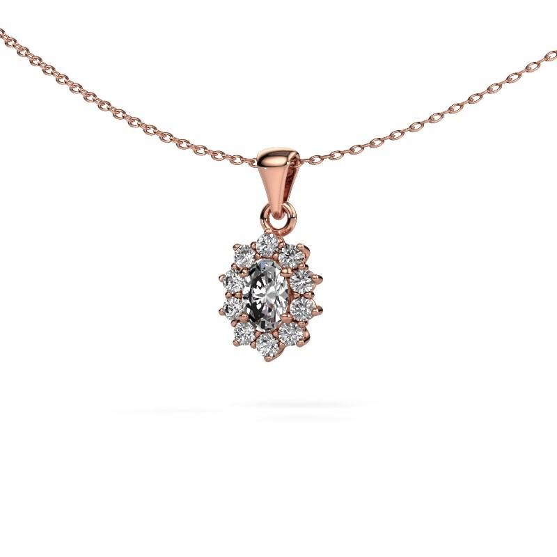 Ketting Leesa 375 rosé goud diamant 0.80 crt