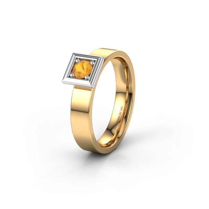 Trouwring WH2112L14A 585 goud citrien ±4x1.7 mm
