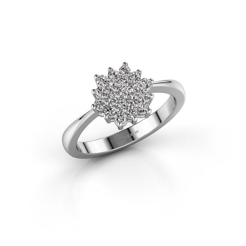 Engagement ring Vickey 1 585 white gold lab-grown diamond 0.025 crt