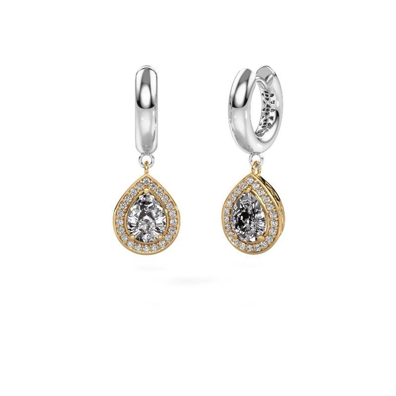 Ohrhänger Barbar 1 585 Gold Lab-grown Diamant 2.065 crt