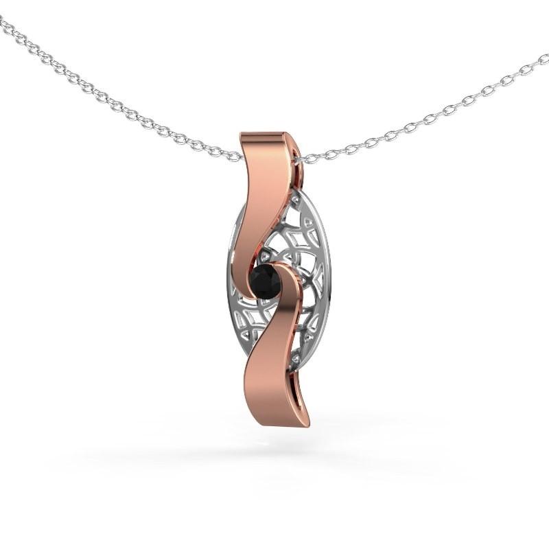 Anhänger Darleen 585 Roségold Schwarz Diamant 0.12 crt