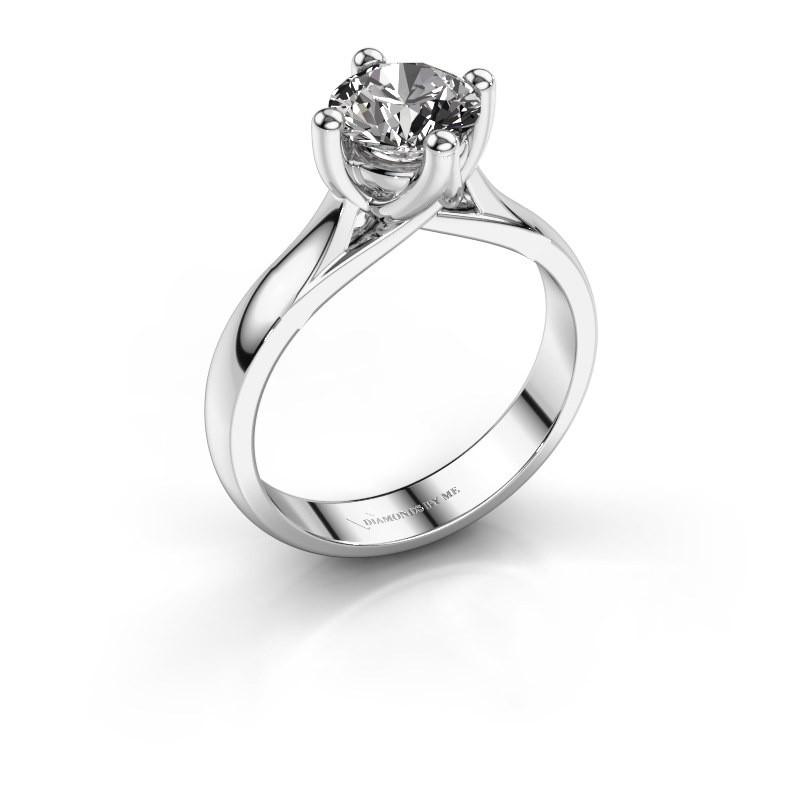 Engagement ring Janne 585 white gold diamond 1.00 crt