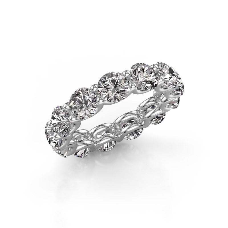 Ring Kristen 5.0 585 witgoud diamant 6.50 crt