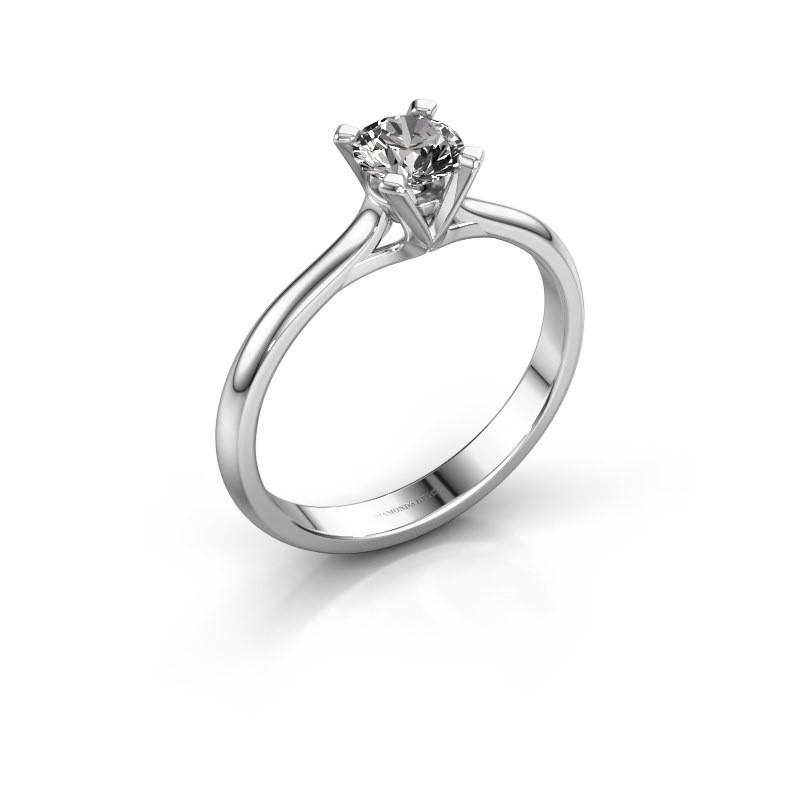 Verlovingsring Isa 1 925 zilver diamant 0.50 crt