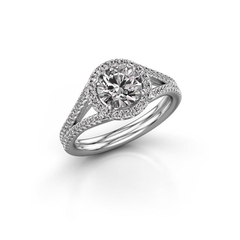 Engagement ring Verla rnd 2 585 white gold diamond 1.42 crt