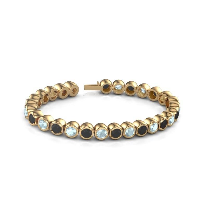 Tennisarmband Delma 375 goud aquamarijn 5 mm