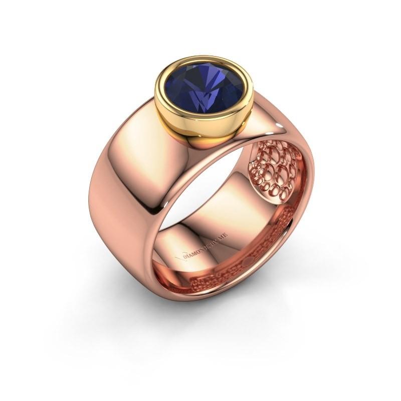 Ring Klarinda 585 Roségold Saphir 7 mm