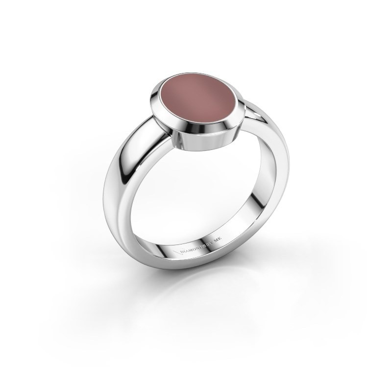 Pinkring Oscar 1 925 zilver carneool 10x8 mm
